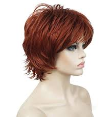 Short Red Hairstyles 48 Inspiration Lydell Short Layered Shaggy Full Synthetic Wig Wigs 24 Copper Red