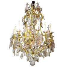 19th century gilt bronze and crystal chandelier from the spelling manor for