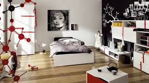 Bedroom Classy Girl Black And White Teenagers Bedroom Decoration