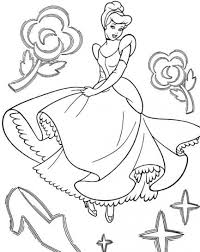 Disegni Da Colorare Cenerentola Principessa Disney E Scarpetta