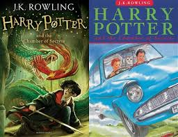 jonny duddle s new cover l and the original 1999 cover for harry potter and the chamber of secrets bloomsbury