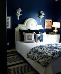 Monochromatic deep blue bedroom