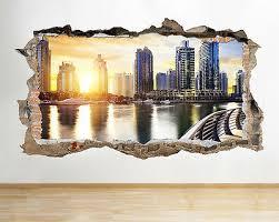 w178 dubai city scene skysers wall