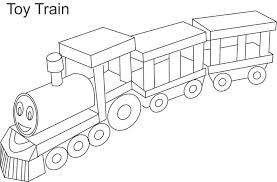 Small Picture Toy train coloring page for kids