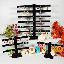 Black Velvet Earring Display Stand
