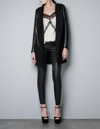 black leather jacket women zara