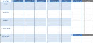Student Daily Planner With Subjects 15 Checklist Schedule And Planner Templates For Students