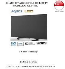 sharp 40 inch tv. sharp 40 inch aquos full hd led tv lc-40le460x * 3 years warranty tv
