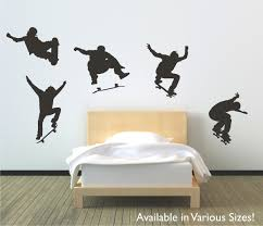 skateboarders jumping vinyl wall decal sticker