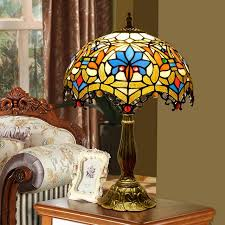 attractive stained glass desk lamp at 12inch european baroque vintage tiffany table