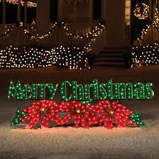 Merry Christmas Light Up Signs Outdoor Holiday Living 2 3 In Merry Christmas With White
