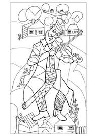 chagall the green violonist 1923 24 new york drawn masterpieces coloring pages for s just color