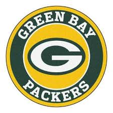 nfl green bay packers green 2 ft x 2 ft round area rug