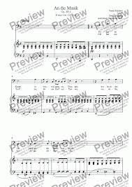 An Die Musik Bass Clef For Voice Keyboard By Franz Schubert Sheet Music Pdf File To Download