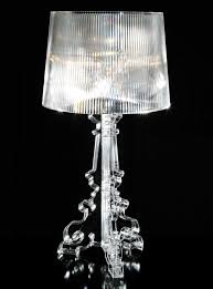 bourgie table lamp   h  to  cm crystal by kartell