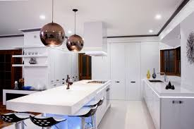 kitchen pendent lighting. Modern White Kitchen Decoration Using Black Ball Mirrored Pendant Lighting Including Pendent G