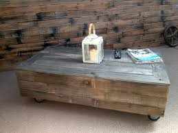 vintage industrial styled coffee table