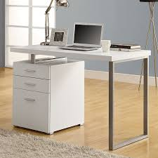 monarch specialties contemporary white computer desk