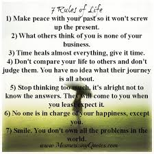 40 Rules Of Life Mesmerizing Quotes Interesting 7 Rules Of Life Quote