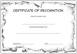 free recognition certificates certificate of recognition template for elementary free