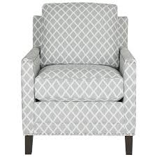 gray and white accent chair. Interesting Chair Safavieh Buckler Casual GrayWhite Linen Accent Chair For Gray And White