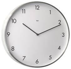 futura aluminum wall clock