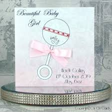 New Baby Girl Card Rattle