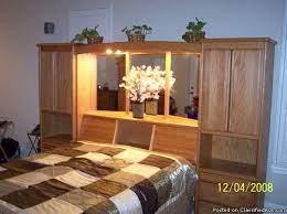 oak wood queen pier bedroom set