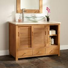... Cabinet:Stunning Unfinished Bathroom Vanity Pretty Bathroom Interior  Design Trough Sink Natural Lacquer Hickory Hardwood ...