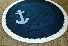 round nautical area rug