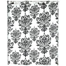 black and white shower curtain black white shower curtain damask