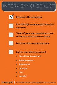 job interview checklist snagajob blog interview checklist