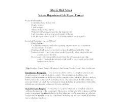 Science Report Format Experiment Report Template Biology Lab Report Template
