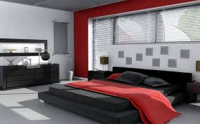 red bedroom color ideas. Intriguing Black And White Bedroom Ideas With Red Color Accent N