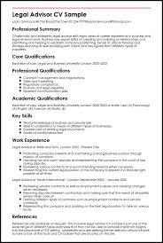 Legal Advisor CV Sample