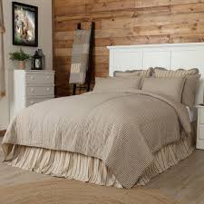 farmhouse quilt bedding. Unique Quilt VHC Farmhouse French Country Bedding Sawyer Mill Ticking Stripe Striped Quilted  Coverlet On Quilt