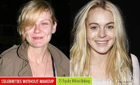 without makeup celebrities photography
