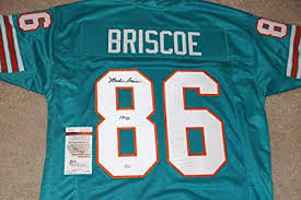 0 Briscoe Store Amazon's At 1972 - Sports Nfl Coa Jersey Certified 86 17 Jerseys Jsa Marlin Autographed W658660 Collectibles