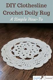 How to Crochet a Doily Rug with Clothesline Easy Crochet Rug