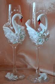 """Свадебные <b>фужеры</b> """"Лебеди"""", свечи – заказать на Ярмарке ..."""