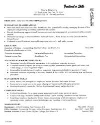 Sample Resume Summary Cover Letter Accounting Student Entry Level