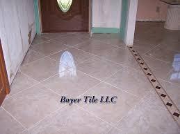 ceramic tile installed on the diagonal