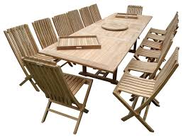 118 buckingham double extension table 14 folding chairs grade a teak