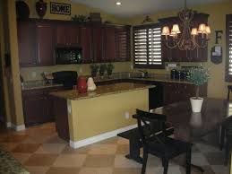 Brilliant Dark Kitchen Cabinets Colors With Brown Throughout Decorating