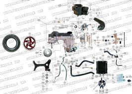 roketa mc 13 250 engine and rear wheel assembly parts