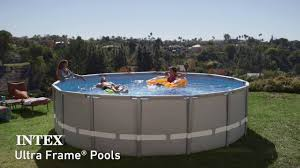 Intex Ultra Frame Round Above Ground Pool YouTube