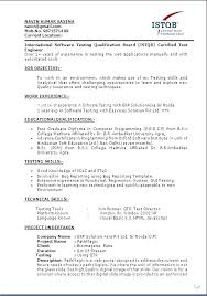 Certificate On Resume Sample Best Of Software Tester Resume Format Sample Resume For Software Testers