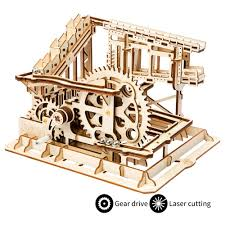 2018 robotime toys hobbies 3d wooden puzzle popular children educational model building kits marble run construction set lg502 from sunnysleepvip1