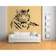 tiger portrait wall sticker jungle animals wall decal big cats kids home decor