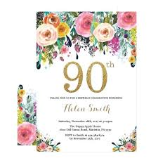 90 Birthday Party Invitations Flowers For 90th Birthday Party Keiryusaisei Org